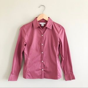 Banana Republic fitted button down blouse
